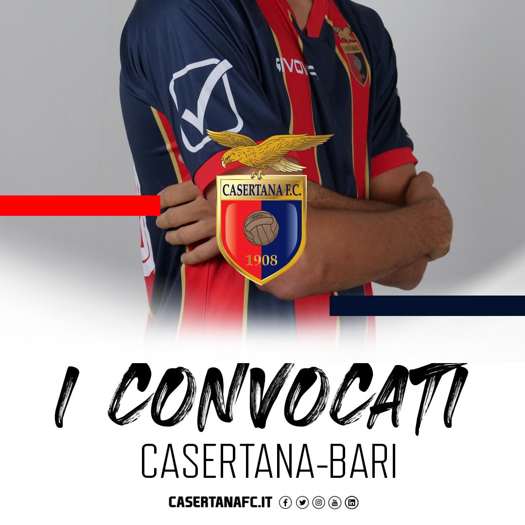 Casertana-Bari, i convocati di Guidi 5fb936adb2297381273238
