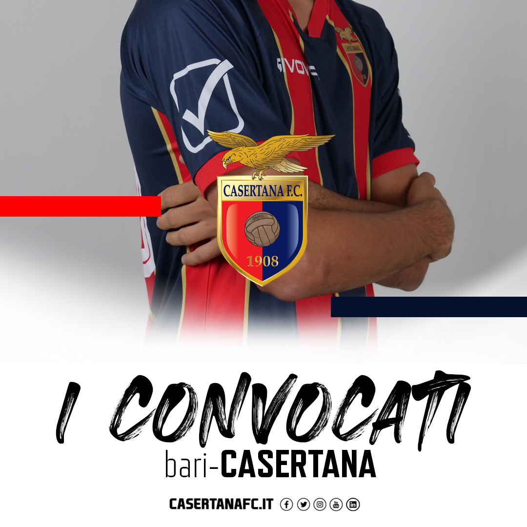 Bari-Casertana, i 18 convocati di Guidi 6050bd88b7bed509654155